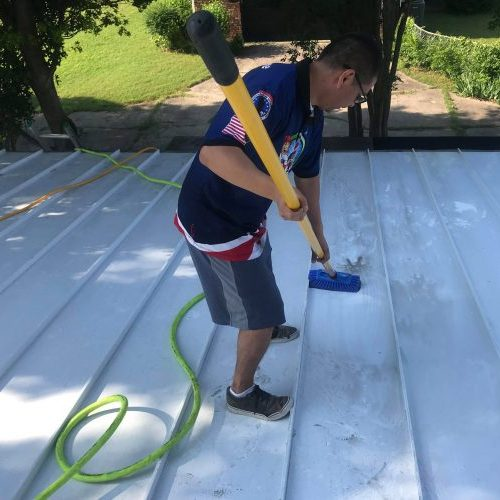 alluminum roof cleaning