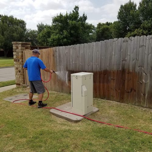 fence cleaning pressure washing dallas